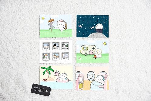 Cartes postales - Lot de 6