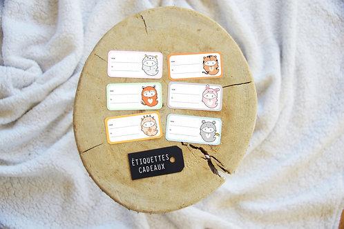 Étiquettes cadeaux - Animaux