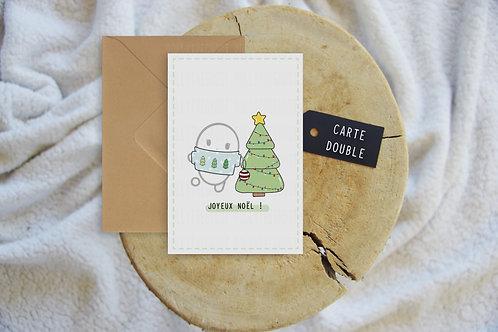 Carte double - Joyeux Noël Sapin