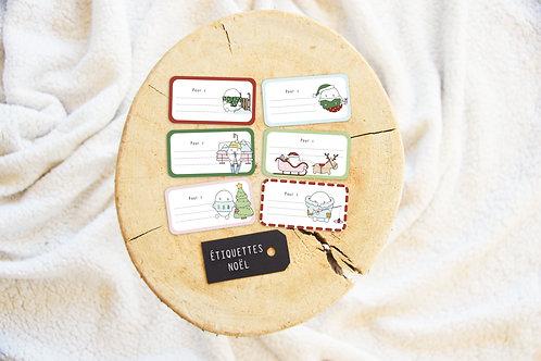 Polly - étiquettes cadeaux Noël