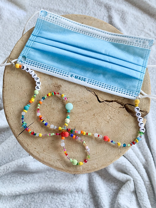 Collier pour masque en perles
