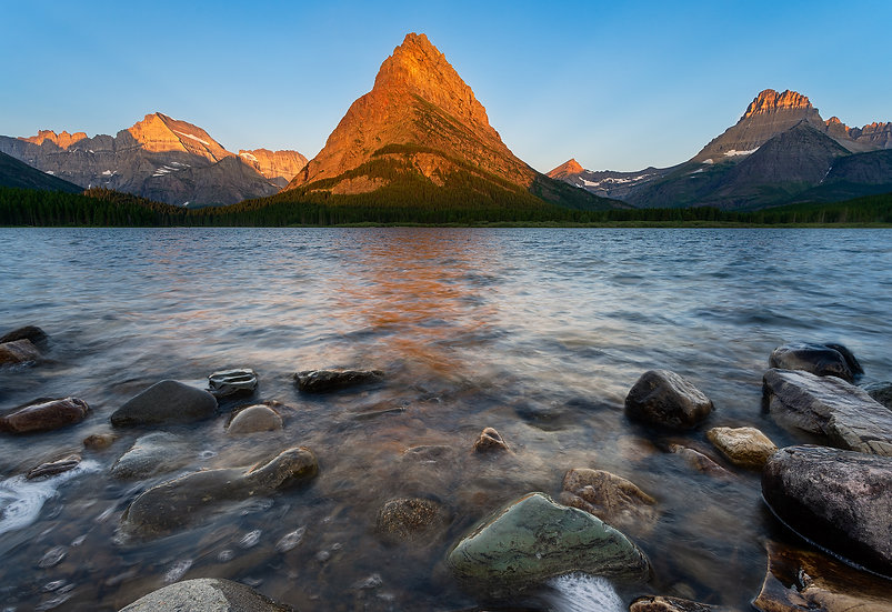Golden Hour at Swiftcurrent Lake