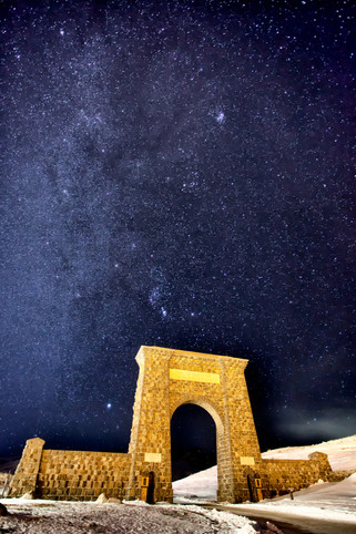 Milky Way Over the Roosevelt Arch