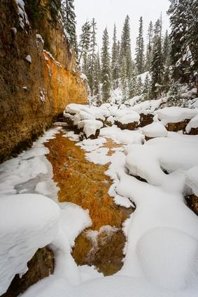 Pebble Creek in Winter