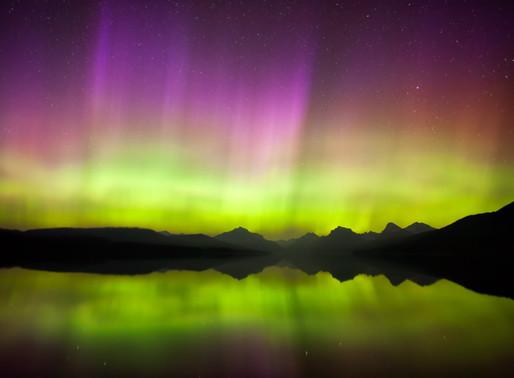 Northern Lights above Glacier National Park