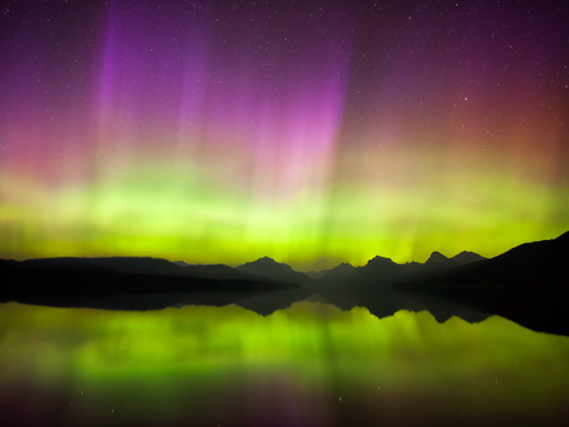 Northern Lights above Glacier National Park