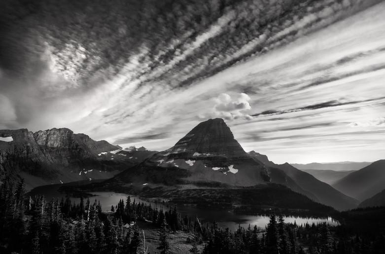 Bearhat Mountain in Black & White