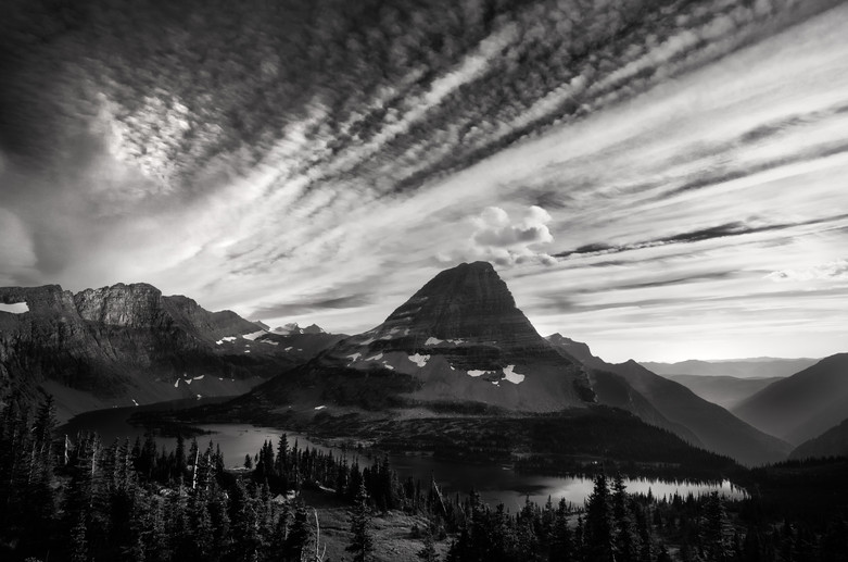 Bearhat Mountain in Black & White