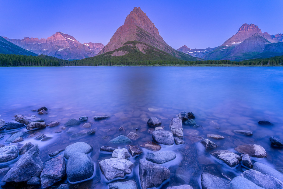 Blue Hour at Swiftcurrent Lake