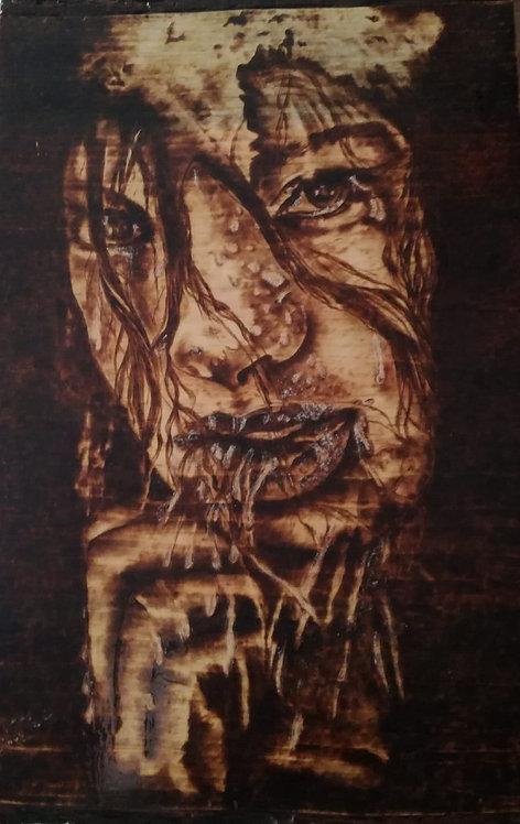 Nr. 8 - Pirografia su legno di Cirmolo.