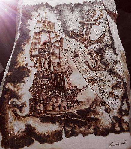 Nr. 20 - Pirografia su legno di ulivo bianco.