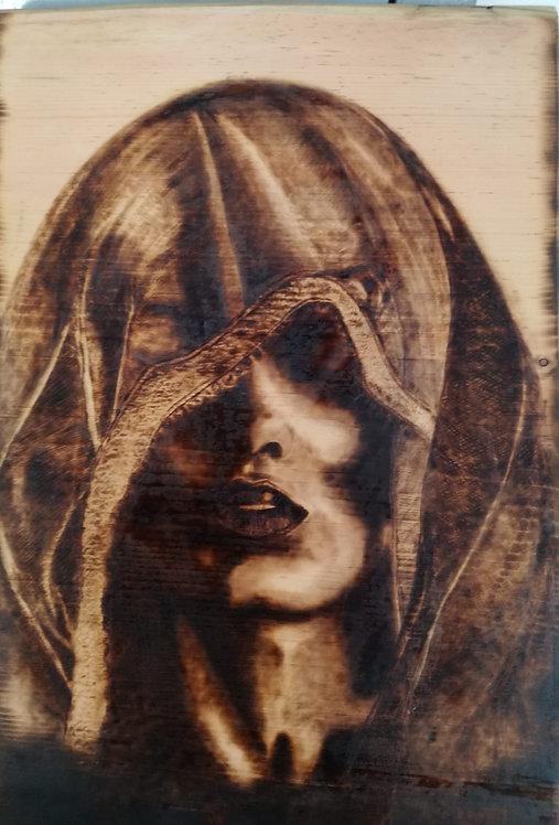 Nr. 7 - Pirografia su legno di Cirmolo.