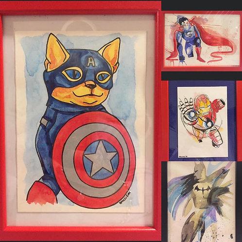 Nr. 20 Dipinti supereroi
