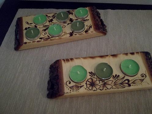 Nr. 19 – Porta candele in legno di cedro
