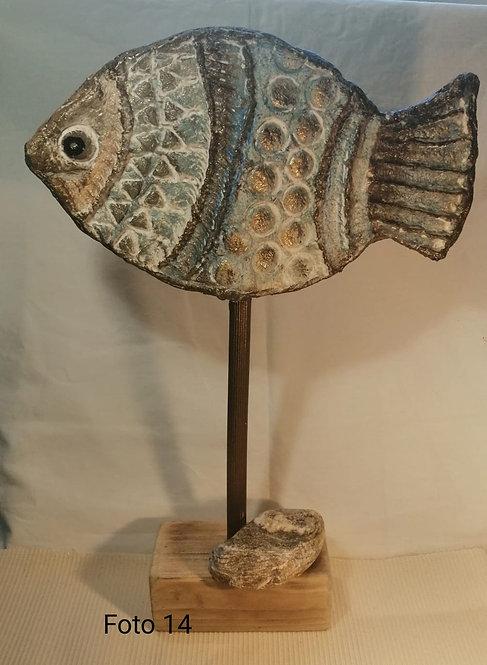 10 – pesce scultura in cartapesta