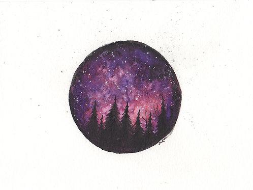 Purple Treescape