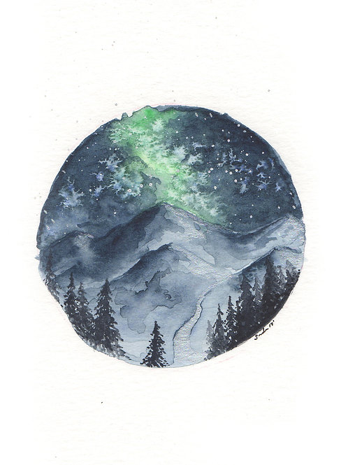Aurora Mountainscape