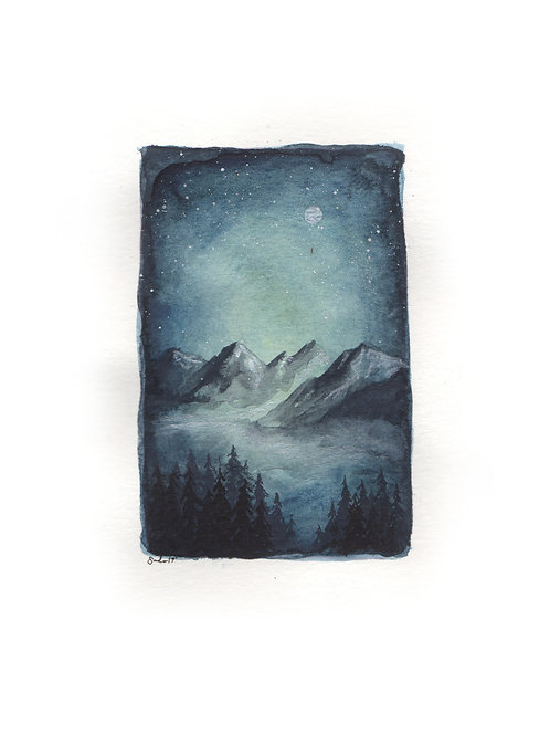 Teal Mountain Night-scape