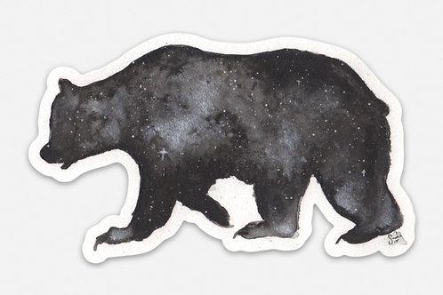 Space Bear Vinyl Sticker