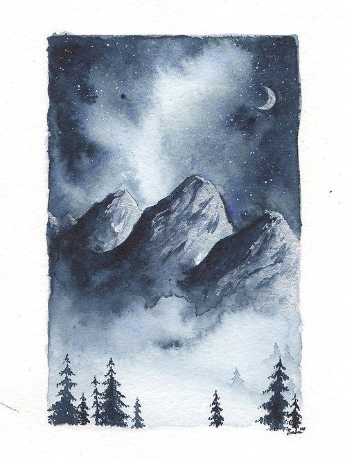 Indigo Silver Mountainscape