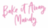 Bake It Away Mandy Logo