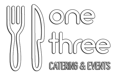 One Three Catering Logo white glow.png