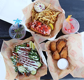 Lazy Lobster Spread Lobster Rolls and Ahi Tuna