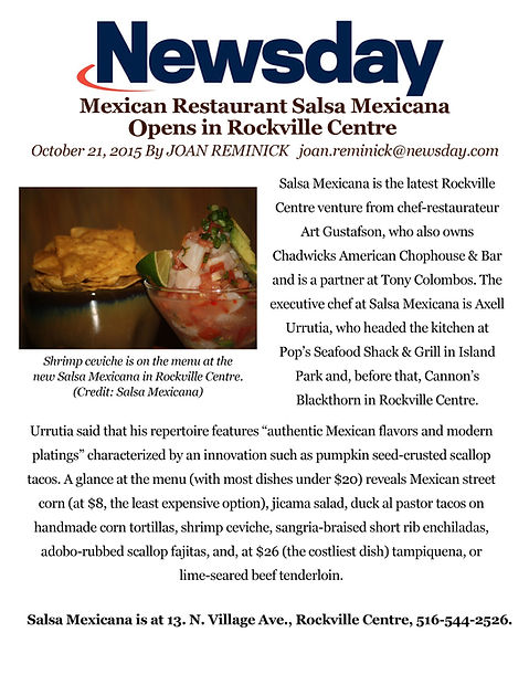 Salsa Mexicana Rockville Centre