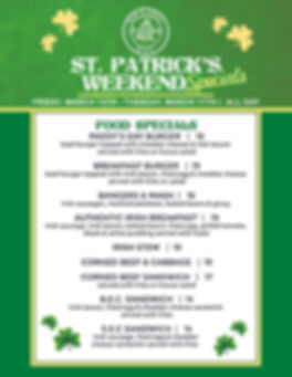 Cheslea Bell St. Patricks Food Specials