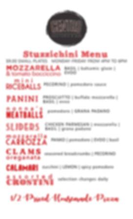 centro aperitivo menu