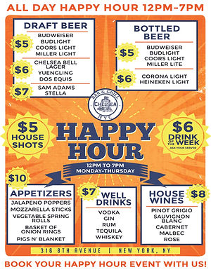 The Chelsea Bell Happy Hour