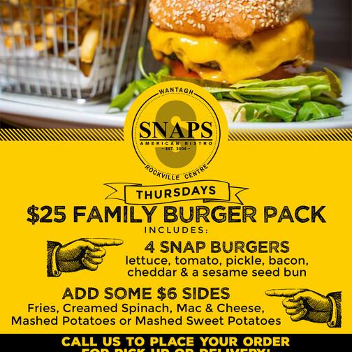 SNAPS Family Packs-Burger Thursday