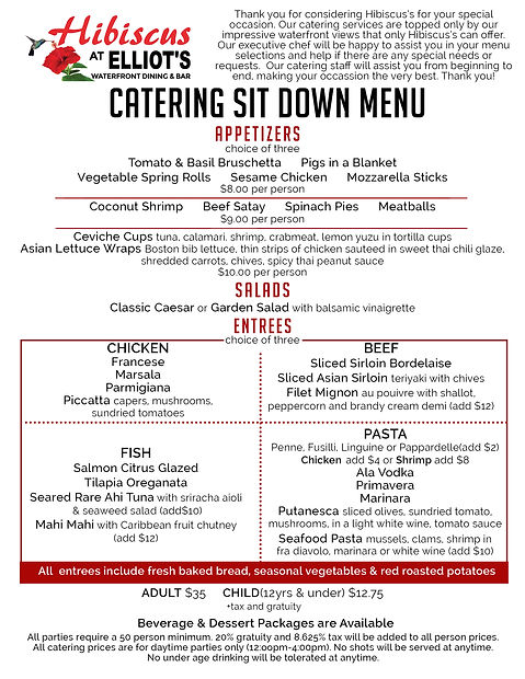 Hibiscus Catering Sitdown