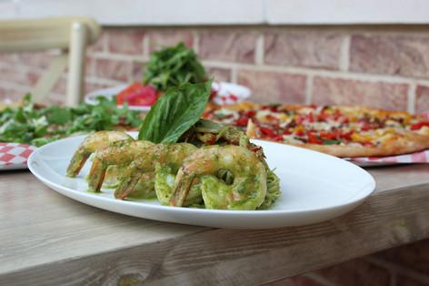 Salvatores Shrimp Pesto Pasta