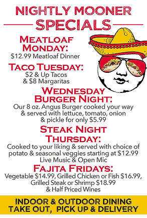 New Moon Nightly Specials