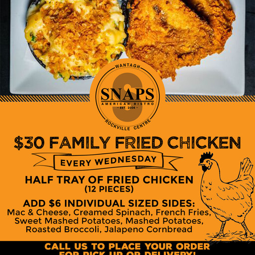 SNAPS Family Packs-Fried Chicken Wednesday