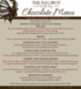 The Inn Spot Chocolate Dinner