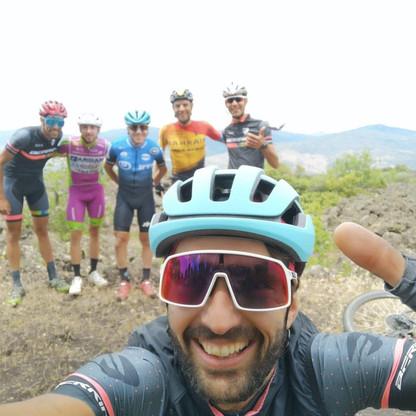 con Domenico Pozzovivo, Damiano Caruso, Francesco Romano e Carmelo Di Pasquale