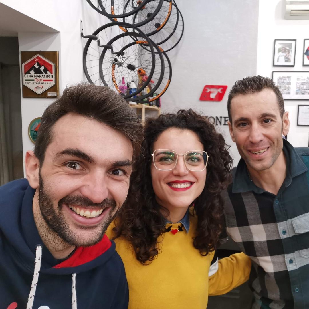 con Vincenzo Nibali