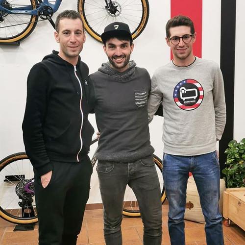 con Vincenzo e Antonio Nibali
