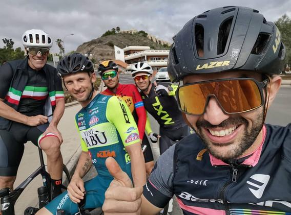 con Mario Cipollini, Damiano Caruso, Marco Frapporti