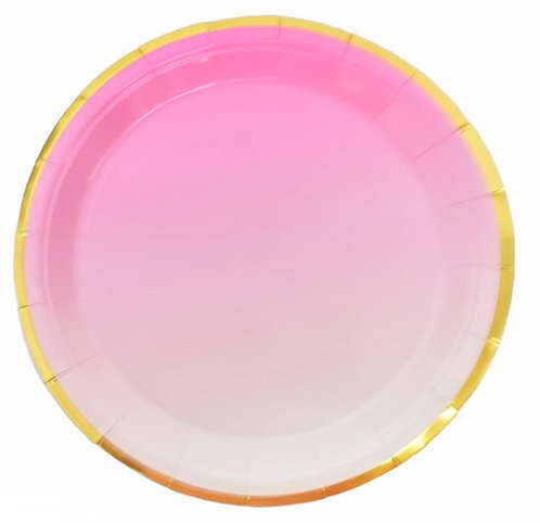 F-036 PLATES PINK GOLD