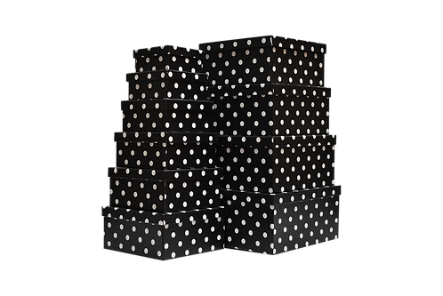 MA-056 WHITE DOTS IN BLACK