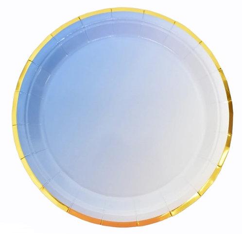 F-034 PLATES BLUE GOLD