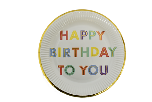 F-046 PLATES HBDAY TO YOU