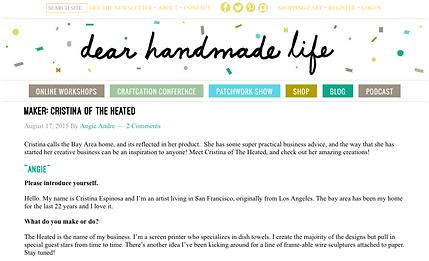dear handmade life summer 2015 interview