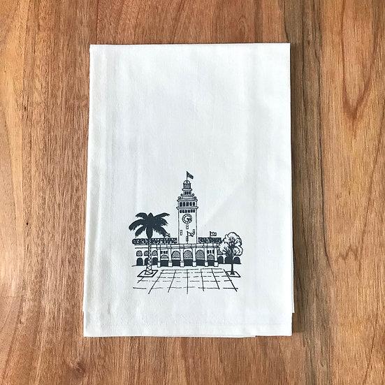 Ferry Building Dishtowel - San Francisco Flour Sack Dish Towel