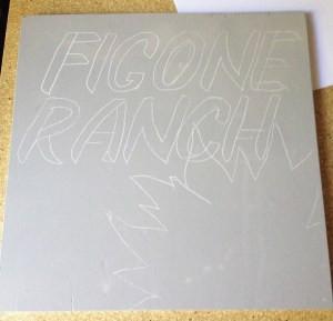 Here's the design stencil transferred
