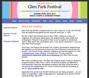 glen park festival april 2017