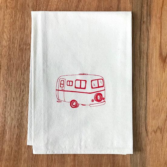 Scamp Camper Dishtowel - Flour Sack Dish Towel